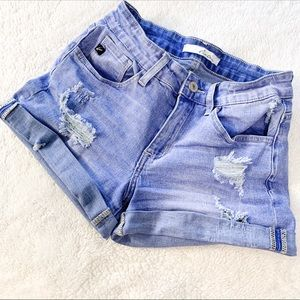 🌻3for25🌻 KANCAN DISTRESSED JEAN SHORTS